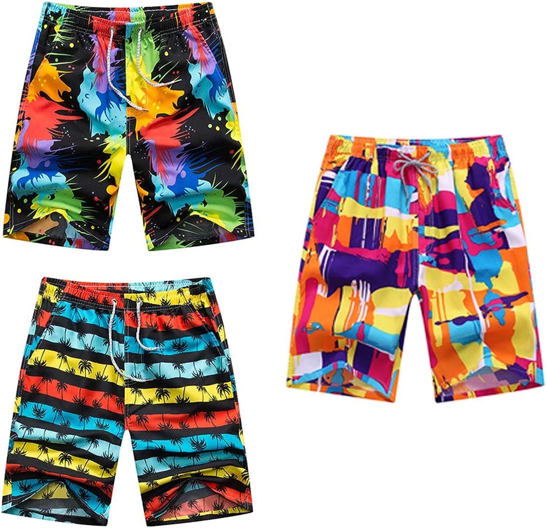 LJA Männer Printed Beach Shorts Schnell trockene Laufshorts Laufshorts Laufshorts Badehosen Badeanzug Badehose Beachwear Sports Shorts Plus Größe Shorts XXXL, 3 Stück B07MZ1F6D7  Freizeit 9e0b5b