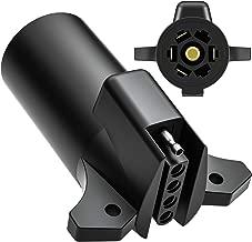 Trailer Adapter, Kohree RV Heavy Duty Trailer Adapter Connector 7/5 Blade 7 Way to 5 Way Flat 5 Pin Trailer Towing Wiring Weatherproof