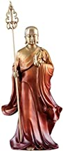 Decoration Buddha Statue of Dizang Bodhisattva Bronze Buddhist Statue Religious Supplies Home Decoration 11×28.5cm Craft O...