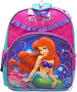 Small Size Pink and Teal Ariel Backpack - Little Mermaid Backpack
