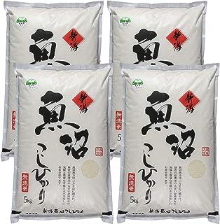 農家直売 お米20kg 魚沼市ブランド推奨米認定 魚沼産コシヒカリ 無洗米 5kg×4 令和2年