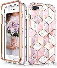 Hasaky Case for iPhone 8 Plus Case iPhone 7 Plus Case iPhone 6/6s Plus Case,Dual Layer Hybrid Bumper Cute Girls/Women Marb...
