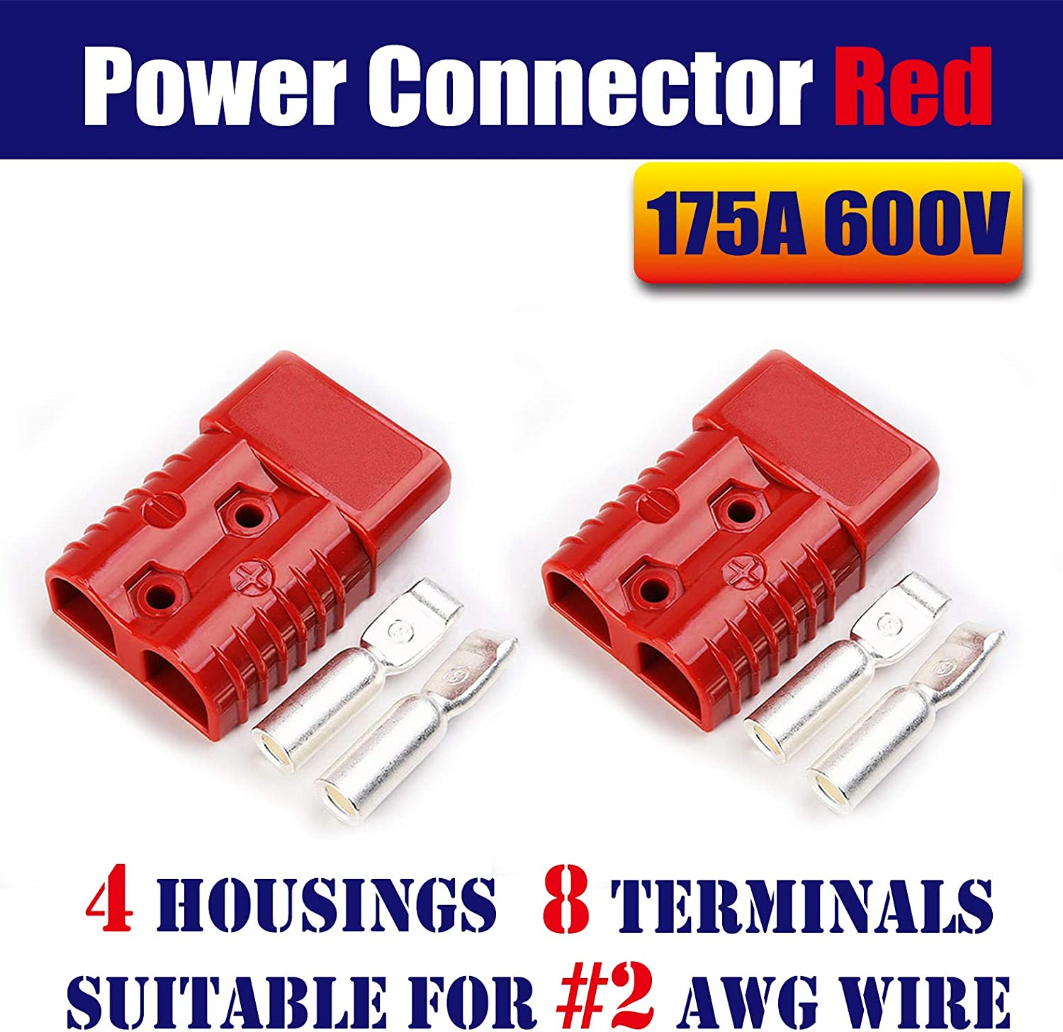 Mr.Brighton LED 175Amp Anderson Compatible Power Connecto Luxury goods Pole 2 Special sale item