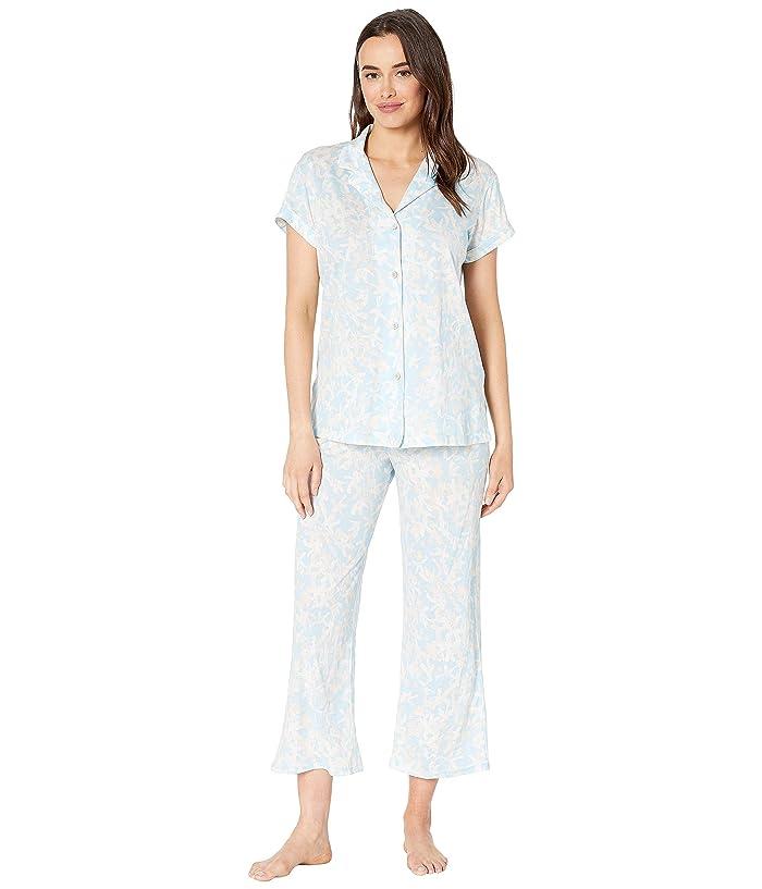 Natori Melody Supima Cotton Short Sleeve PJ (Sky) Women