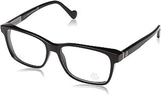 Moncler Rectangular Eyeglasses ML5012 001 Shiny Black 57mm 5012