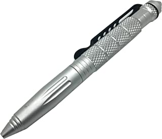 American Tactical Supply Co. Tactical Self-Defense Pen with Glass Breaker/DNA Catcher (Silver)