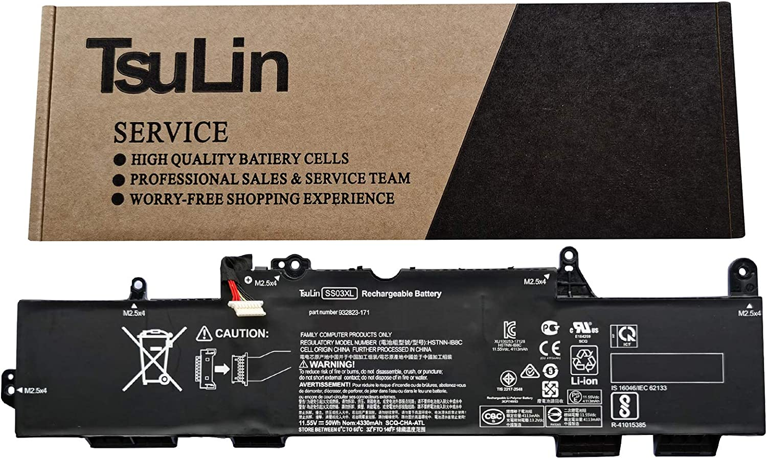 TsuLin SS03XL Laptop Battery Max 42% OFF Boston Mall Compatible 730 73 EliteBook Hp with