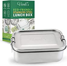 Vanli's Stainless Steel Lunch Containers | Metal Lunch Box For Kids And Adults | Durable Bento Box With Lockable Clips Leak Proof To Keep Food Fresh | Tiffin Food Container | 27oz