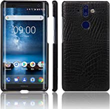 Nokia 9 PureView Case,Abeike Luxury Classic Crocodile Skin Pattern [Ultra Slim] PU Leather Anti-Scratch PC Protective Hard Case Cover for Nokia 9 PureView