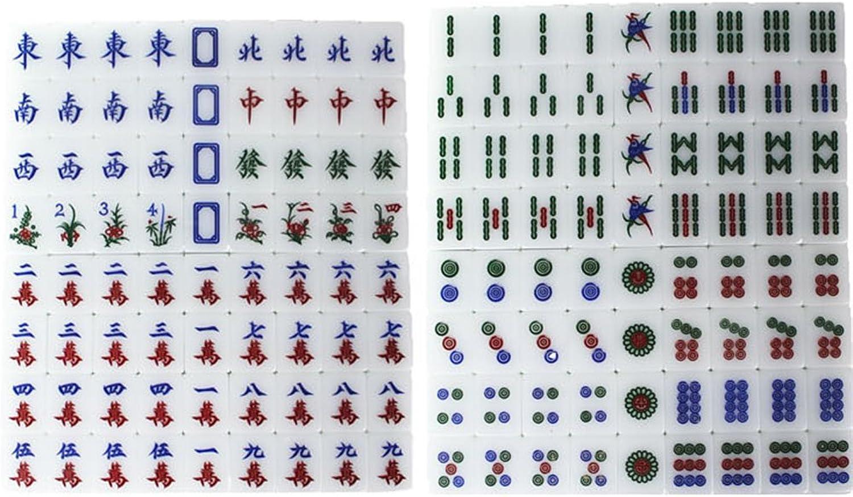 LI JING SHOP - Large Home Hand Rubbing Crystal Mahjong Acrylic Green Mahjong Card Size  3.8  2.9  2.2CM (single), 4.0  3.1  2.3CM (single), 4.1  3.2  2.3CM (single) 1 Set Of 144 Sheets ( color   Simple plastic box , Size   L-3.82.92.2CM )
