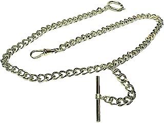 Silver Single Albert Pocket Watch Chain-914W