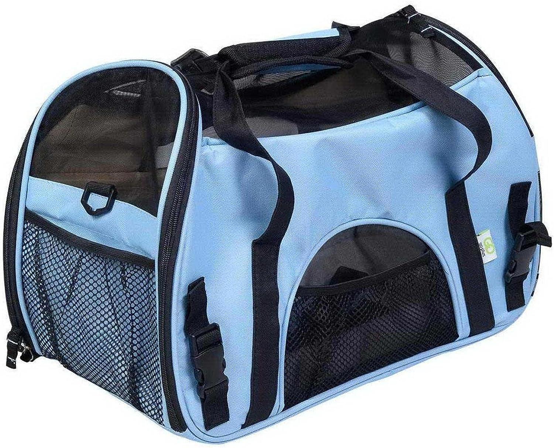 Pet MYYXT Shoulder Bag Dogs Cats Travel Bag Shoulder Tote Handbag with Breathable Mesh Windows Lightweight Compact, bluee