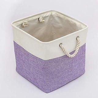 CNYG Grand panier de rangement pliable en tissu - Panier de rangement pour jouets et enfants - Violet - 33 x 33 x 33 cm