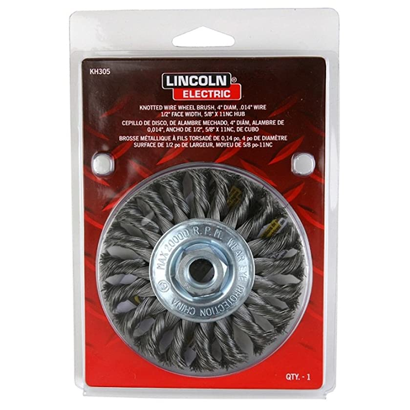Lincoln Electric KH305 Knotted Wire Wheel Brush, 20000 rpm, 4