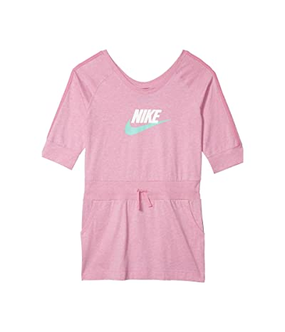 Nike Kids NSW Dress Jersey (Little Kids/Big Kids) (Magic Flamingo/Heather/Emerald Rise) Girl