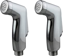 Snowbell Penguin Health Faucet Head (Chrome Plated and Silver, Standard Size) - Set of 2