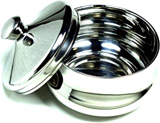 Schöne Stainless Steel Shaving Bowl with Lid – Satisfaction Guarnteed Designed in Austria