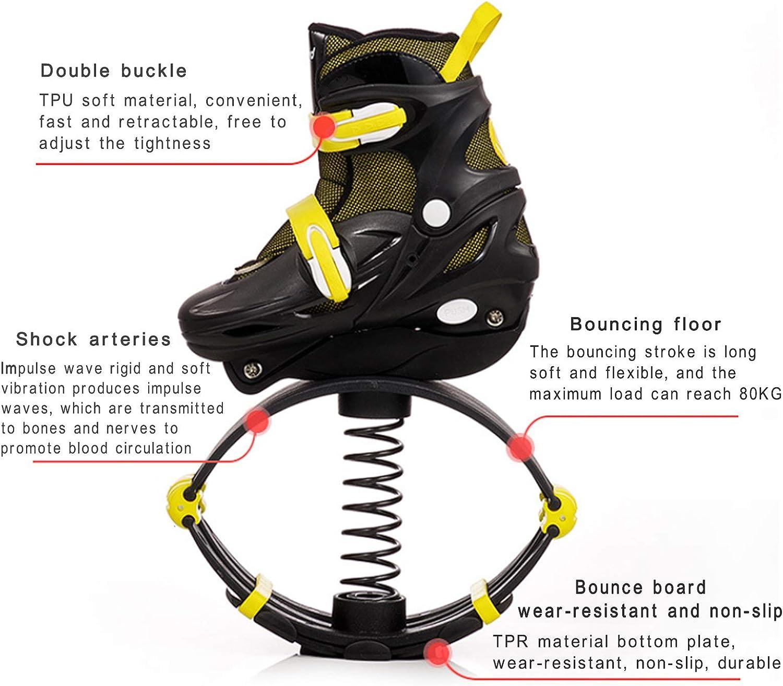 MILECN Teenager Jungen Kangoo Jumping Schuhe,Mit Austauschbarem Riemenscheibenblock rutschfeste Lauffl/äche Und Abnehmbarer Innenschuh Zur Einfachen Reinigung,31~34