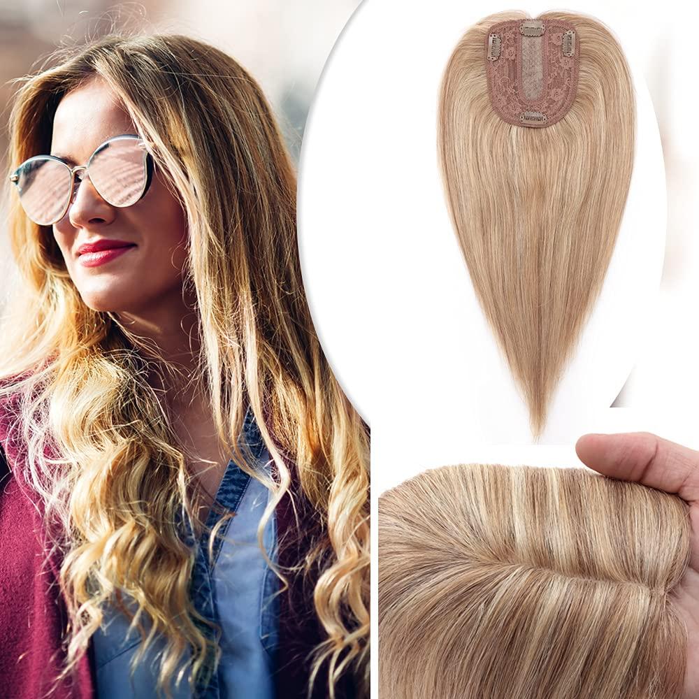 Hairro 12 Inch Silk Base Clip in Women for Max 65% OFF Fashion Hair Human Gol Topper