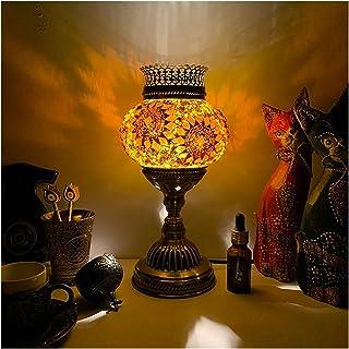 ZZL Lampe de Table Vintage Aromathérapie Lampe de Table Turquie Exotique G4 Tungsten Bulbe Chambre à Coucher Hôtel Restaur...