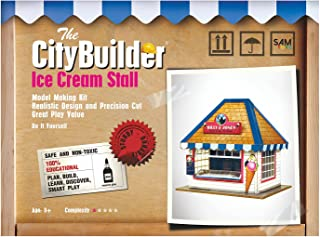 The CityBuilder Ice Cream Stall Cardboard Model Making Kit - O Scale Model Railroad Building