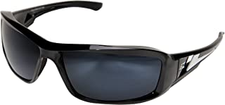 Edge Eyewear TXB21-G15-7 Brazeau Safety Glasses, Black with Polarized G-15 Silver Mirror Lens