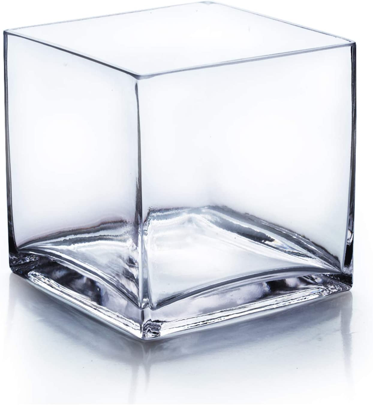 Albuquerque Mall WGV New York Mall Cube Glass Vase Candle Holder Size and Qty Bulk 6