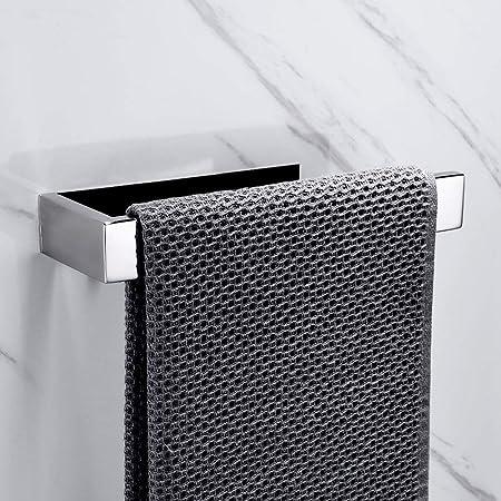Lolypot Anneau porte-serviettes Chrome Porte Serviette Salle de Bain 304 Acier Inoxydable support de serviettes Auto-adhésif sans perçage support de cuisine