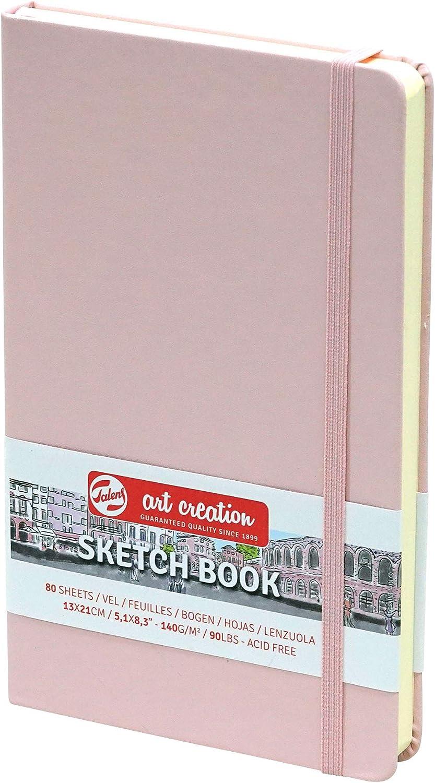 Sketchbook Royal Talens Art Creation - Cuaderno de bocetos (tapa dura, 80 hojas, 140 g/m², 13 x 21 cm), color rosa pastel