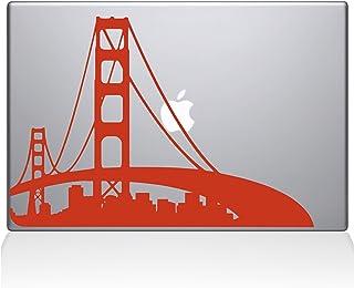 "The Decal Guru San Francisco City Skyline Decal Vinyl Sticker, 15"" MacBook Pro (2015 & Older Models), Orange (2303-MAC-15P-P)"