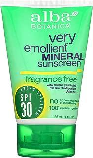 Alba Botanica Sensitive Mineral Sunscreen Fragrance Free, SPF 30 4 oz