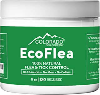 EcoFlea by ColoradoDog - 110 to 120 Count All Natural Chewable Dog Treats for Flea and Tick Treatment and Prevention - No ...