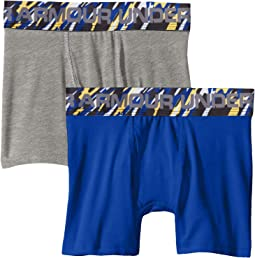 2-Pack Solid Cotton Boxer Set (Big Kids)
