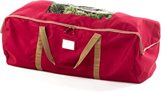 Covermates – Large Holiday Storage Duffel Bag – Holds up to 7.5 Foot Tree – 3 Year Warranty - Red