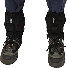 Andes Black Waterproof Ankle Gaiters, For Walking, Trekking, Hiking Boots - Fits Sizes UK 5-11.5