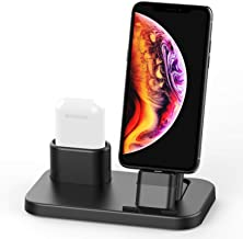 BEACOO 2 in 1 Charging Stand Dock Compatible with AirPods and iPhone 11/Xs/XS Max/XR/X/8/8 Plus
