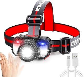 Headlamp with Zoom Function,Jornarshar Headlight Outdoor Led with Motion Sensor Light Switch,Head Light Flashlight Recharg...