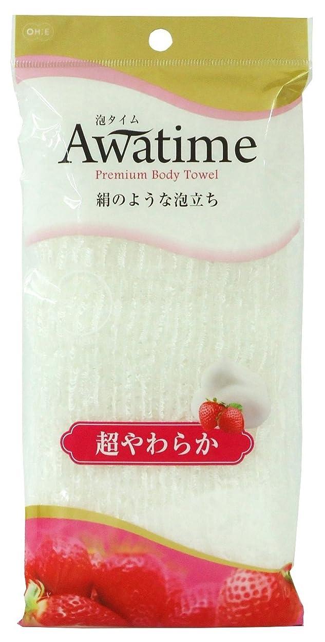 家庭下ちなみにオーエ 泡タイム ボディ タオル 超 やわらか? ホワイト 約22×100cm 絹のような 泡立ち