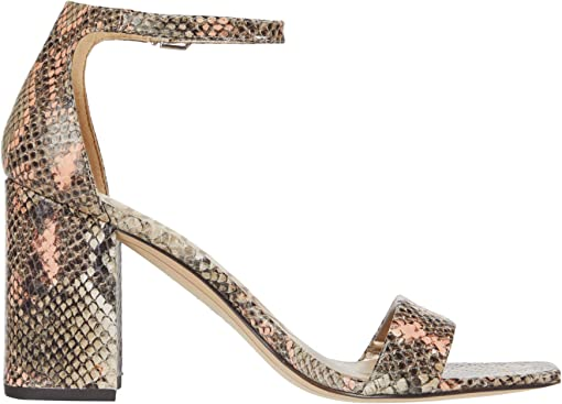 Mesa Nude/Peach Multi Exotic Snake Print Leather