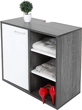 Dioche Meuble de salle de bain sous lavabo en bois avec étagères ouvertes 30 x 59,4 x 59 cm