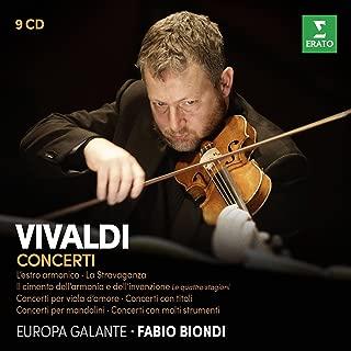Vivaldi: Il cimento dell'armonia e dell'inventione, L'estro armonico, La Stravaganza, Concerti con molti strumenti 1&2 Concerti con titoli, Concerti per viola d'amore