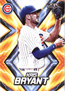2017 Topps Fire #1 Kris Bryant Chicago Cubs Baseball Card