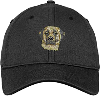 HU MOVR German Shepherd with Heart Unisex Baseball Cap Cotton Denim Adjustable Outdoor Sports Cap for Men Women
