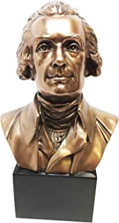 Ebros President Thomas Jefferson Replica Bust On Pedestal Base Figurine Historical Decor Statue Founding Father Declaration of Independence