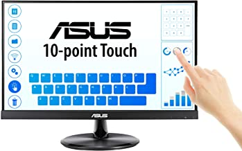 """ASUS VT229H 21.5"""" Monitor 1080P IPS 10-Point Touch Eye Care with HDMI VGA, Black"""