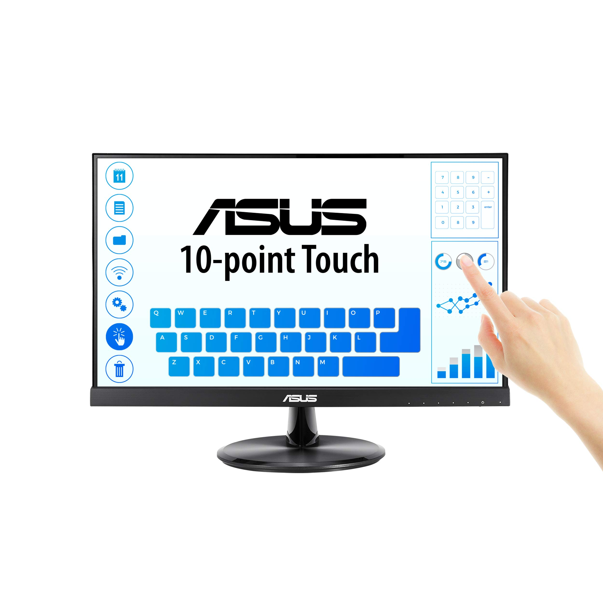 ASUS VT229H Monitor 1080P 10 Point