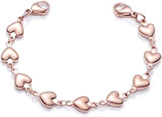 Heart Link Stainless Steel Interchangeable Medical Alert Bracelet