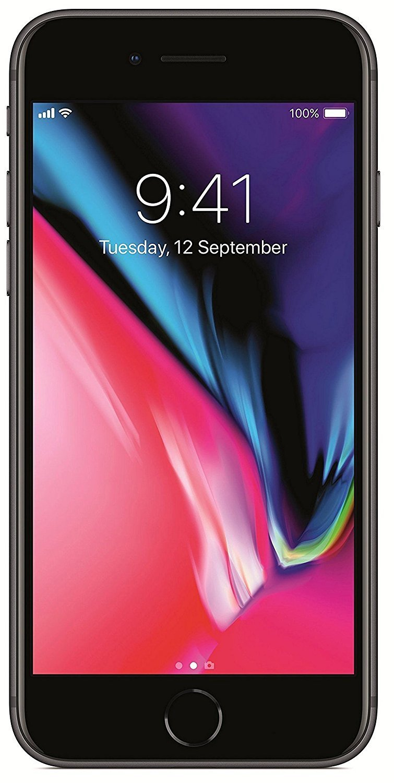 "Apple iPhone 8 4.7"", 256 GB, Fully Unlocked, Space Gray (Renewed)"