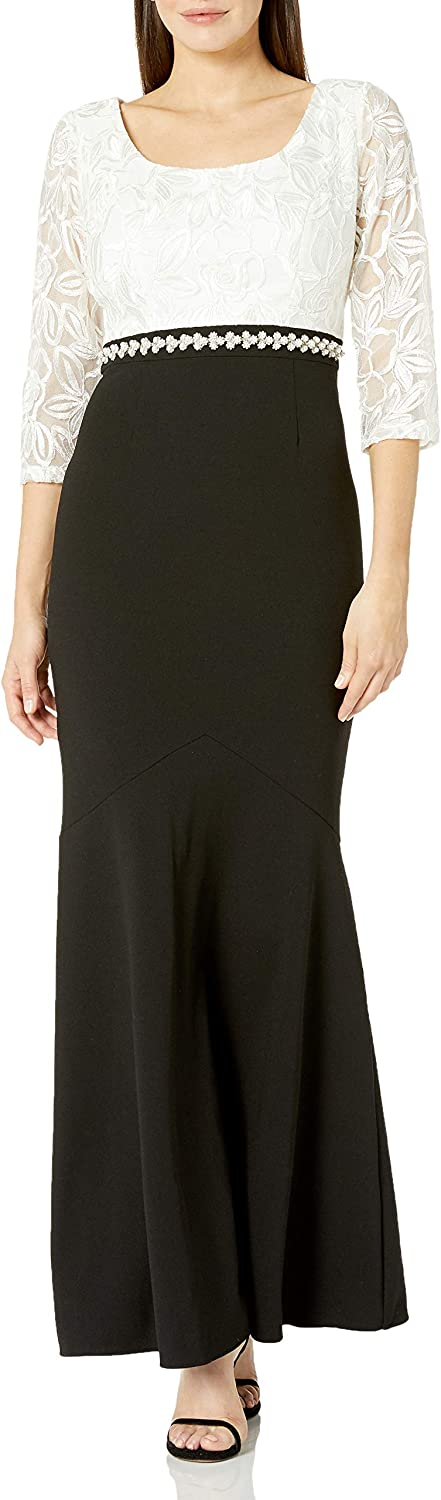 Alex Evenings Women's Long Fit and Flare Dress
