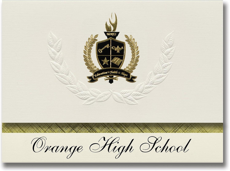Signature Ankündigungen Orange High School (Orange, ca) Graduation Graduation Graduation Ankündigungen, 25 Stück mit Gold & Schwarz Metallic Folie Dichtung, 15,9 x 29,1 cm creme (Pac _ basicpres _ HS25 _ 103589 _ 206041) B0794YPCTV   Hat einen langen Ruf  a8794a